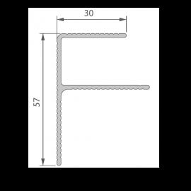 Profil de Finition Alu en F 40 x 57 mm Anodisé Brun