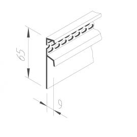 Profil de Ventilation Vinystone® 6 x 65 mm Blanc