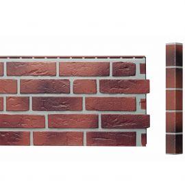 Bardage Fibre de verre Vinybrick® Aspect brique standard Rouge flammée