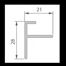 Profil de Départ Alu 21 x 28 mm pour Terrasse Massive