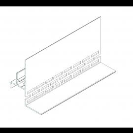 Profilé de Départ avec Ventilation basse en Alu Noir
