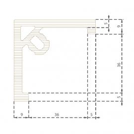Cornière à clipser Noir réglisse 50 x 50 mm
