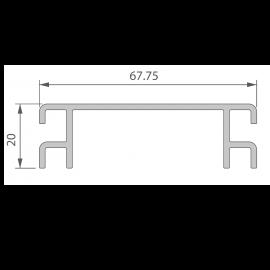 Profil de Ventilation 67,75 x 20 mm Anodisé Brun