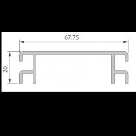 Profil de Ventilation 67,75 x 20 mm Noir