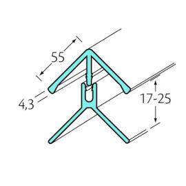 Profil d'angle int/ext 2 parties Bardexel® Lisse Chêne doré