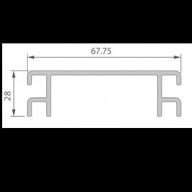 Profil de Ventilation 67,75 x 28 mm Anodisé Brun