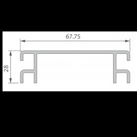 Profil de Ventilation 67,75 x 28 mm Noir