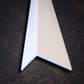 Cornière PVC Lisse Angle Vif Blanc 9016 50 x 80 x 2 mm