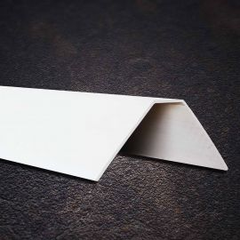 Cornière PVC Biaise Crantée Blanc 9016 100 x 100 x 2 mm