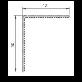 Profil de Finition Alu 42 x 50 mm pour Twinson® Anodisé Argent