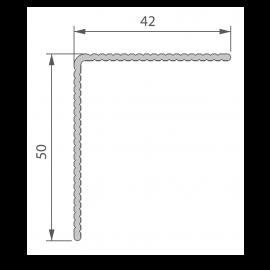 Profil de Finition Alu 42 x 50 mm pour Twinson® Anodisé Brun