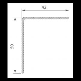 Profil de Finition Alu 42 x 50 mm pour Twinson® Noir