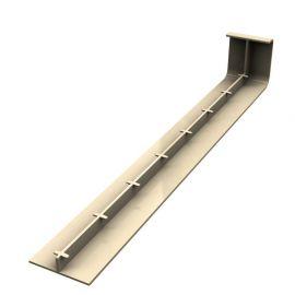 Jonction 300 mm pour Planche de Rive en L Arrondie ép. 9 mm Sable