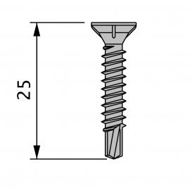 110 Vis Inox TF 4,5 x 25 Autoperf