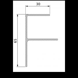 Profil de Finition Alu en F 40 x 65 mm Twinson® Anodisé Brun