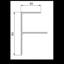 Profil de Finition Alu en F 40 x 65 mm Twinson® Noir