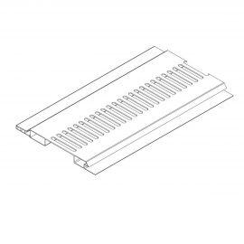 Ventilation Mâle/Femelle 100 x 10 mm Blanc