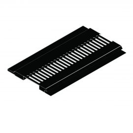 Ventilation Mâle/Femelle 100 x 10 mm Noir