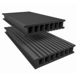 Lame de Terrasse Essentielle Alvéolaire Twinson® 4000 x 140 x 28 mm Gris galet