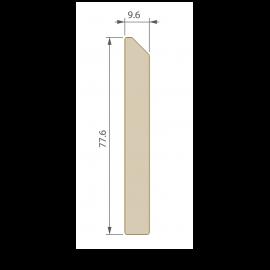 Plinthe 77,6 x 9,6 mm pour Terrasse Twinson Beige noix