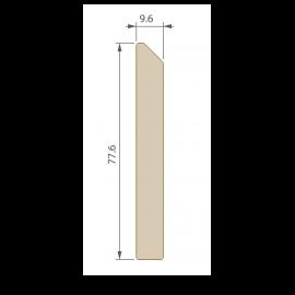 Plinthe 77,6 x 9,6 mm pour Terrasse Twinson Brun écorce
