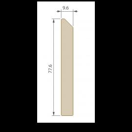 Plinthe 77,6 x 9,6 mm pour Terrasse Twinson Brun noisette