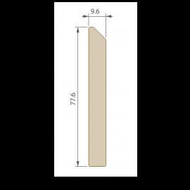 Plinthe 77,6 x 9,6 mm pour Terrasse Twinson Noir réglisse