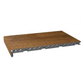Tablette PVC Alvéolaire 400 mm Chêne doré