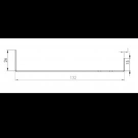 Tôle Départ Alu Ventilée prof. 132 mm Tasseaux 40 mm RAL 5024