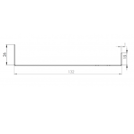 Tôle Départ Alu Ventilée prof. 132 mm Tasseaux 40 mm RAL 7022