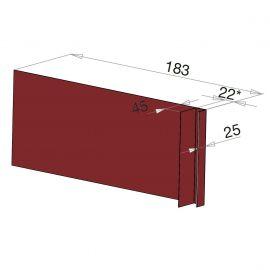 Tôle Ébrasement Alu prof. 180 mm Bardage ép. 22 mm RAL 3011