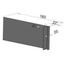 Tôle Ébrasement Alu prof. 180 mm Bardage ép. 22 mm RAL 7022