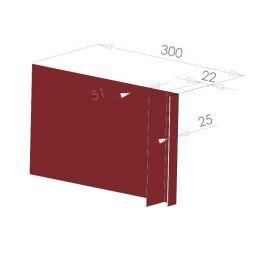 Tôle Ébrasement Alu prof. 300 mm Bardage ép. 22 mm RAL 3011