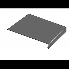 Tôle Rive Ajustable Alu prof. 250 mm RAL 7022