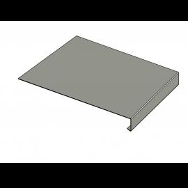 Tôle Rive Ajustable Alu prof. 250 mm RAL 7030