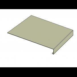 Tôle Rive Ajustable Alu prof. 250 mm RAL 7032