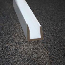Profil en U 10 mm avec Adhésif Blanc