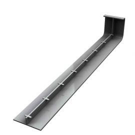 Jonction 300 mm pour Planche de Rive en L Arrondie ép. 9 mm Gris