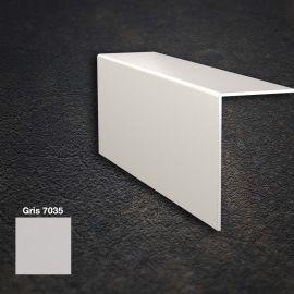 Cornière PVC Lisse Angle Arrondi Gris 7035 60 x 100 x 2,5 mm