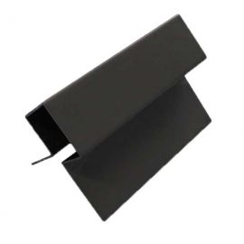 Profil d'angle ext en Alu Laqué Noir minuit
