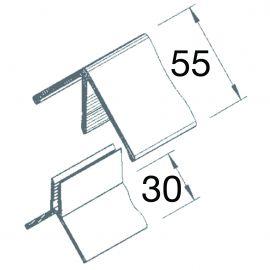 Angle sortant 2 parties Vinyplus® Gris 7001