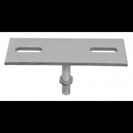 Connecteur pour structure bois base en acier de 200 x 60 x 8 mm