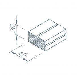 Profilé de calage 20/40 gris pour bardage VINYTHERM longueur 2.5ml