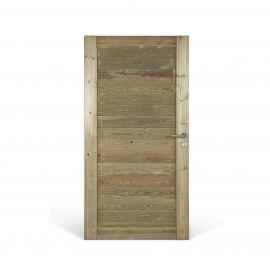 Porte bois Misto Pin rouge du Nord imprégné vert 195 x 99 cm classe A4+