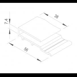 Épingle Vinycom 7.4 x 38 x 56 mm Blanc - 1 x 6 ml