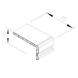 Encadrement Vinycom 115 x 55 mm Blanc - 6 x 6 ml