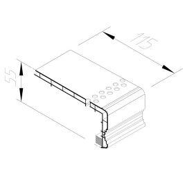 Encadrement linteaux perforé Vinycom 115 x 55 mm Blanc - 6 x 6 ml