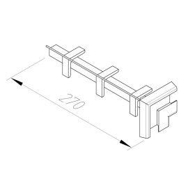 Angle Vinycom 270 mm Blanc