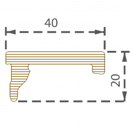 Profilé de finition 40x20 mm gris ardoise pour 9562