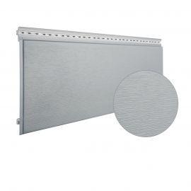 Bardage PVC cellulaire Multipaneel finition bois 250 x 18 mm Gris clair 2.4 ml